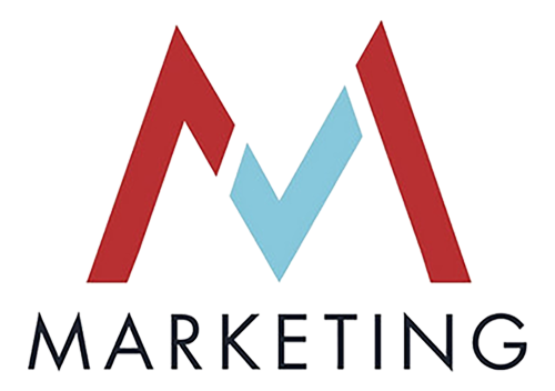 Logo of the chair of Management Science/ Marketing: large M consisting of three individual shapes and the lettering Marketing below it